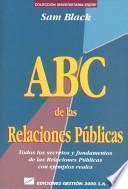 ABC de las relaciones públicas