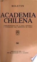 Boletín de la Academia Chilena correspondiente de la Real Academia Española