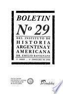 Boletín del Instituto de Historia Argentina y Americana Doctor Emilio Ravignani.