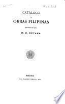 Catálogo de obras Filipinas que ofrece en venta W.E. Retana