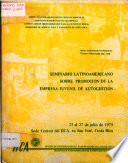 Icca: Seminario Latino Americano Sobre Promocion de la Empresa Juvenil de Autogestion