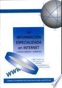La información especializada en Internet