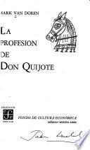 La profesión de Don Quijote