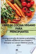 Libro de cocina vegano para principiantes