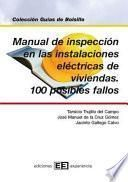 Manual de inspección en las instalaciones de viviendas y 100 pos.fallos