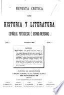 Revista crítica de historia y literatura españolas, portuguesas é hispano-americanas