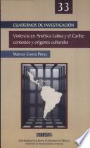 Violencia en América Latina y el Caribe